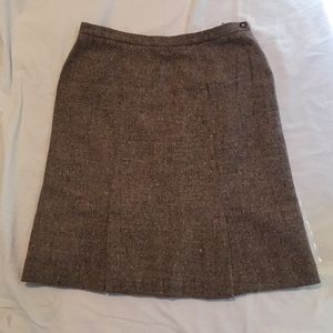 Wool Mohair Tweed Skirt - RODIER - France - 14